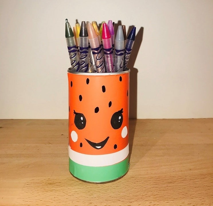 How to Make a Watermelon Pencil Holder at Home