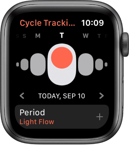 Apple watch Series 5cycle tracking