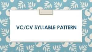 classroom lesson for teaching VCCV syllable pattern
