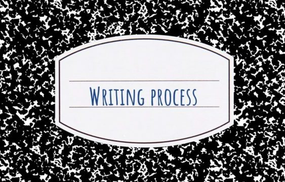 cover image for writing process lesson
