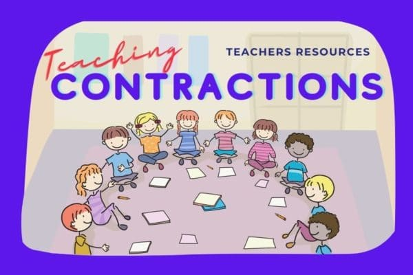 Contractions Lesson cover page