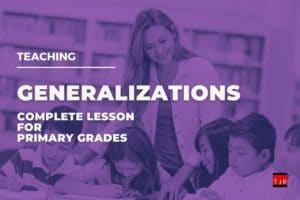 Generalizations lesson cover