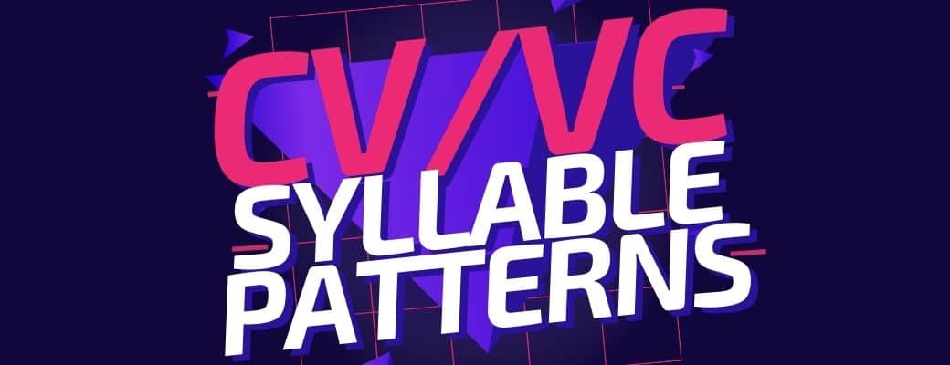 CVVC syllable pattern cover